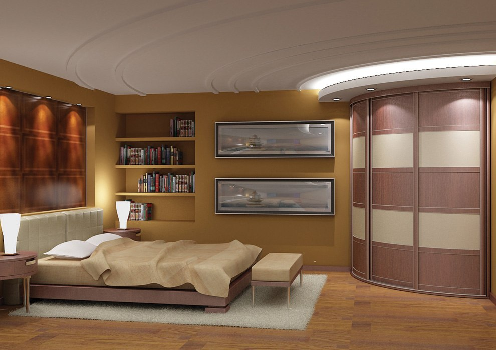 """Шкафы купе радиусные """" мебель на заказ в рязани."""