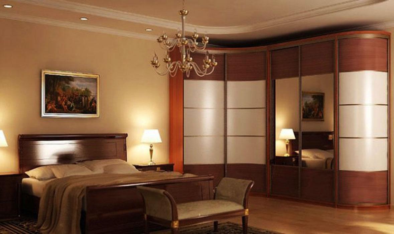 Угловые шкафы-купе в спальню на заказ - производитель мебели.