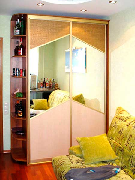 Заказать шкаф-купе с зеркалом в минске недорого. фото, дизай.