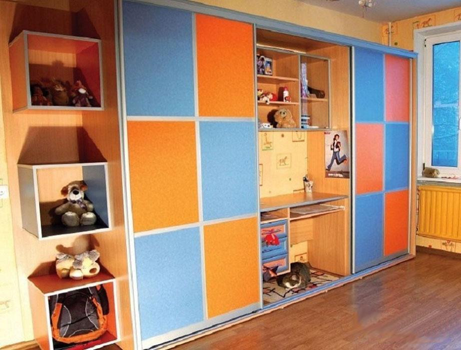 Шкафы-купе для детской комнаты - мд мебель.
